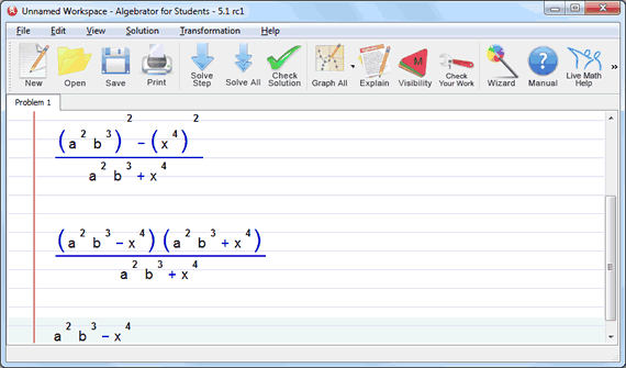 elimination method with exponents